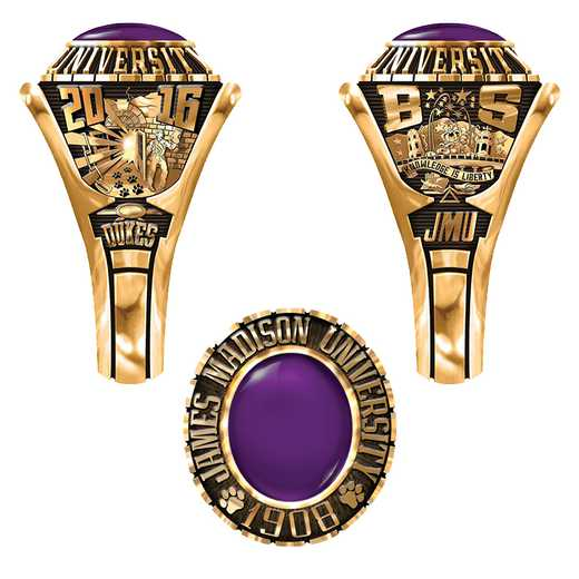 James Madison University Class of 2016 Women's 876Xs Traditional Ring