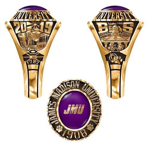 James Madison University Class of 2019 Women's 876Xs Traditional Ring