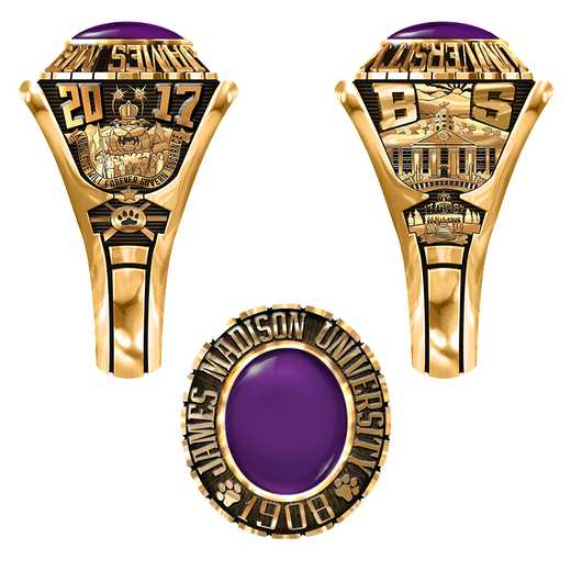 James Madison University Class of 2017 Women's 876Xs Traditional Ring