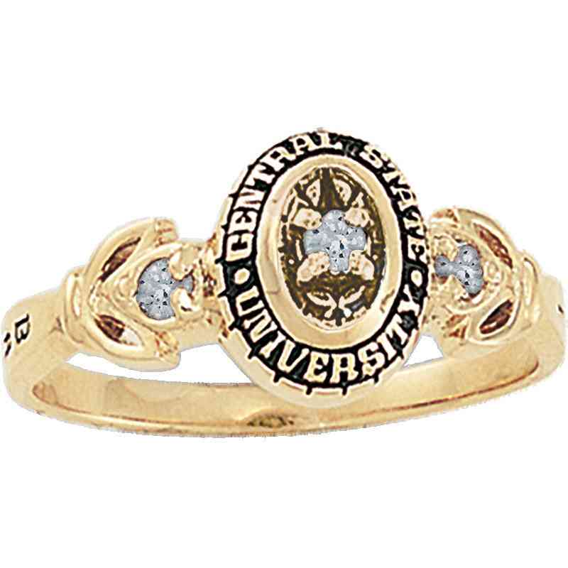 Multi-Choice Standard Women's Twilight Ring with Diamond Top