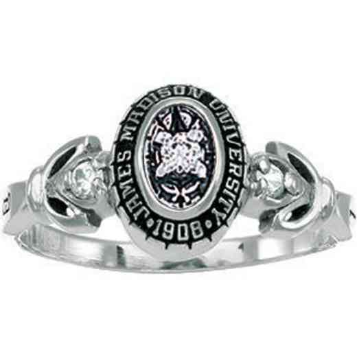 James Madison University Class of 2012 Women's Twilight Ring with Diamonds