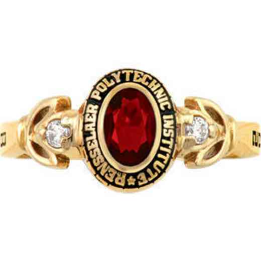 Rensselaer Polytechnic Institute Class of 2014 Women's Twilight Ring with Diamonds and Birthstone