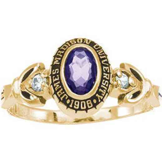 James Madison University Class of 2011 Women's Twilight Ring with Diamonds and Birthstone