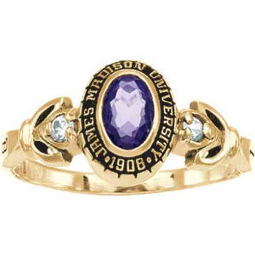 James Madison University Class of 2013 Women's Twilight Ring with Diamonds and Birthstone