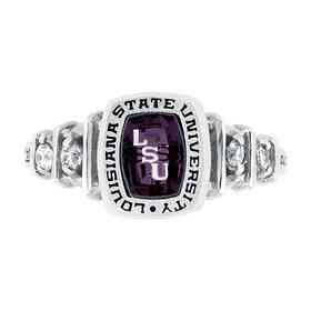 fe31a41dde4 Louisiana State University Women s Highlight Ring with Diamonds