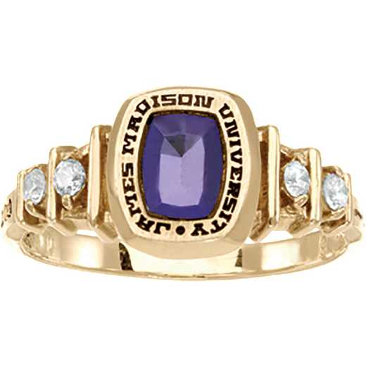 James Madison University Class of 2017 Women's Highlight Ring with Cubic Zirconias