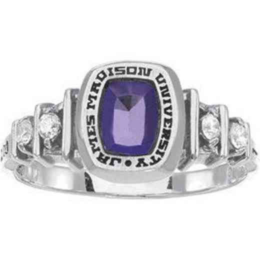 James Madison University Class of 2011 Women's Highlight Ring with Cubic Zirconias