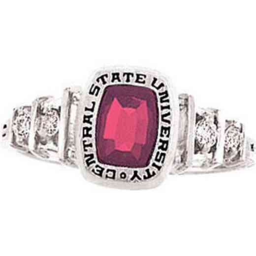 East Tennessee State University Women's Highlight Ring with Cubic Zirconias
