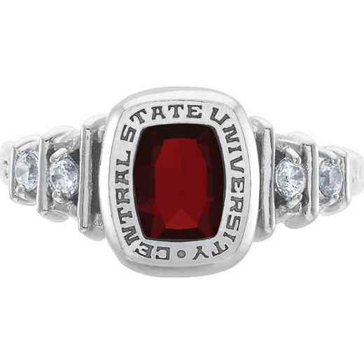East Tennessee St University Gatton College of Pharmacy Women's Highlight Ring with Cubic Zirconias