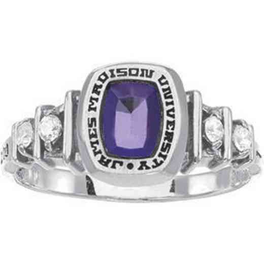 James Madison University Class of 2012 Women's Highlight Ring with Diamonds