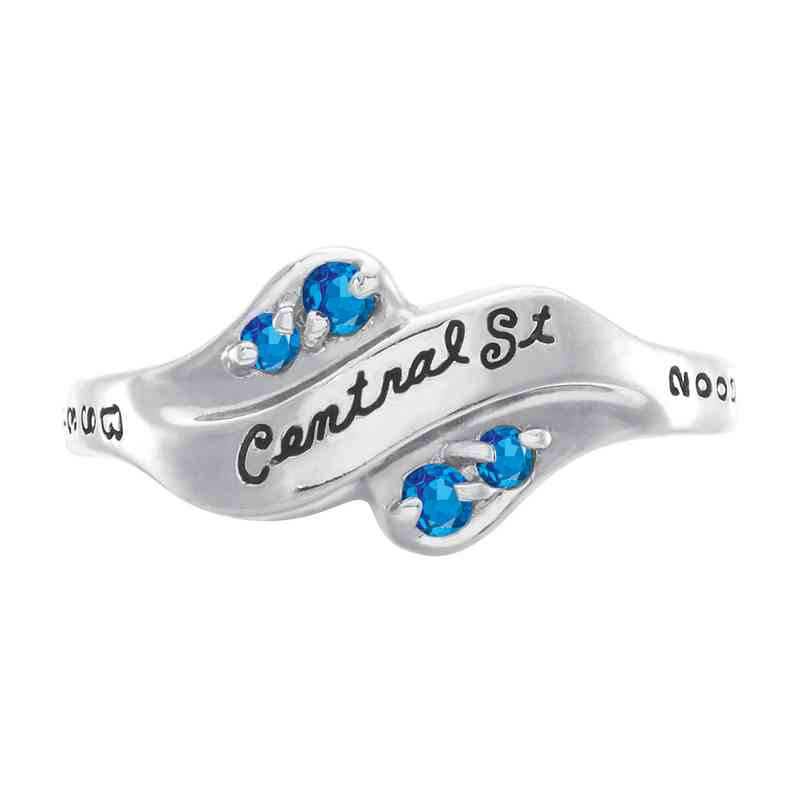 Multi-Choice Standard Women's Seawind Ring with Diamonds and Birthstone