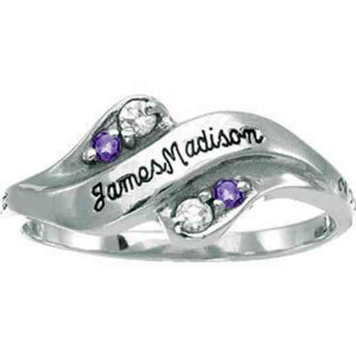 James Madison University Class of 2013 Women's Seawind Ring with Diamonds and Birthstones