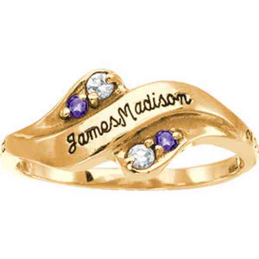 James Madison University Class of 2014 Women's Seawind Ring with Diamonds and Birthstones
