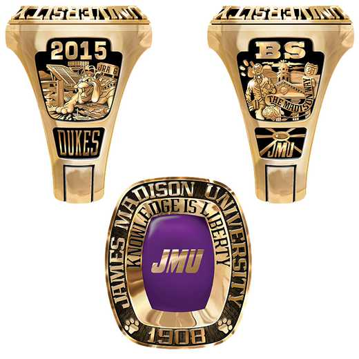 James Madison University Class of 2015 Men's Legend Ring
