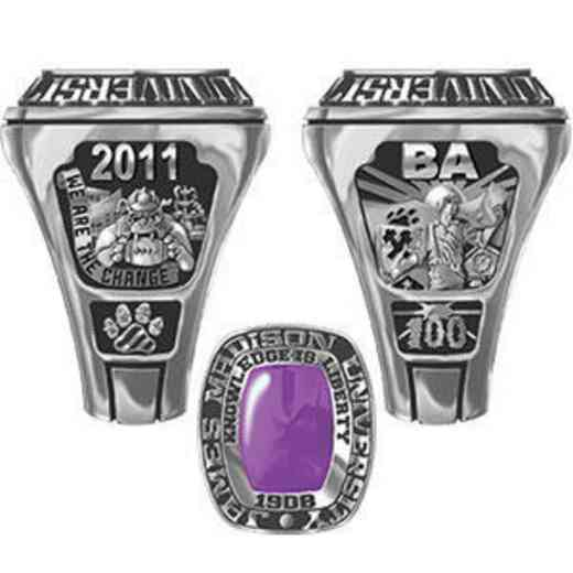James Madison University Class of 2011 Men's Legend Ring