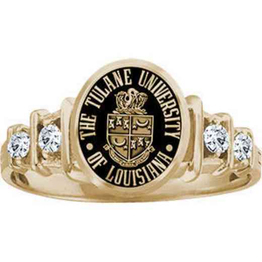 Tulane University New Orleans Women's Crescent Ring