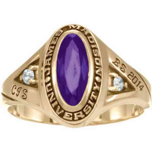James Madison University Class of 2014 Women's Signature Ring with Cubic Zirconias