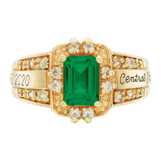 Wright State University Boonshoft School of Medicine Women's Illusion Ring with Cubic Zirconias