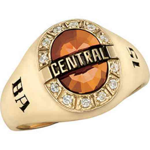 Wright State University Women's Enlighten Ring with Cubic Zirconias