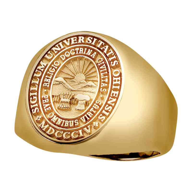 Ohio University College Bookstore Men's Signet V2 Ring
