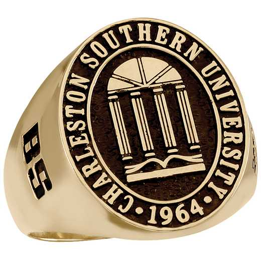 Charleston Southern University Men's Large Oval Signet Ring