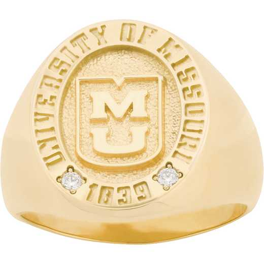 University of Missouri Men's Large Round Signet Ring