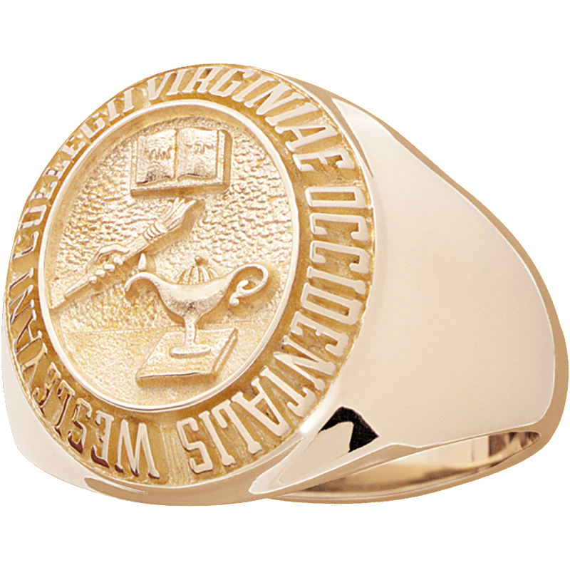 West Virginia Wesleyan College Men's Large Signet Ring