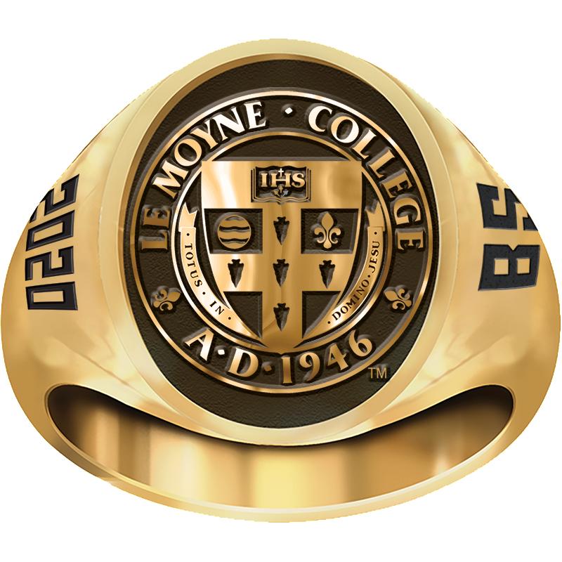 Le Moyne College Men's Large Signet (4810M) Ring
