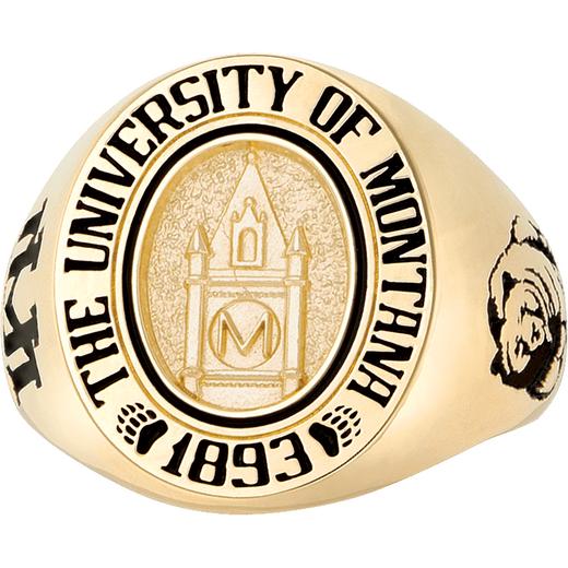 University of Montana Men's Medium Signet Ring
