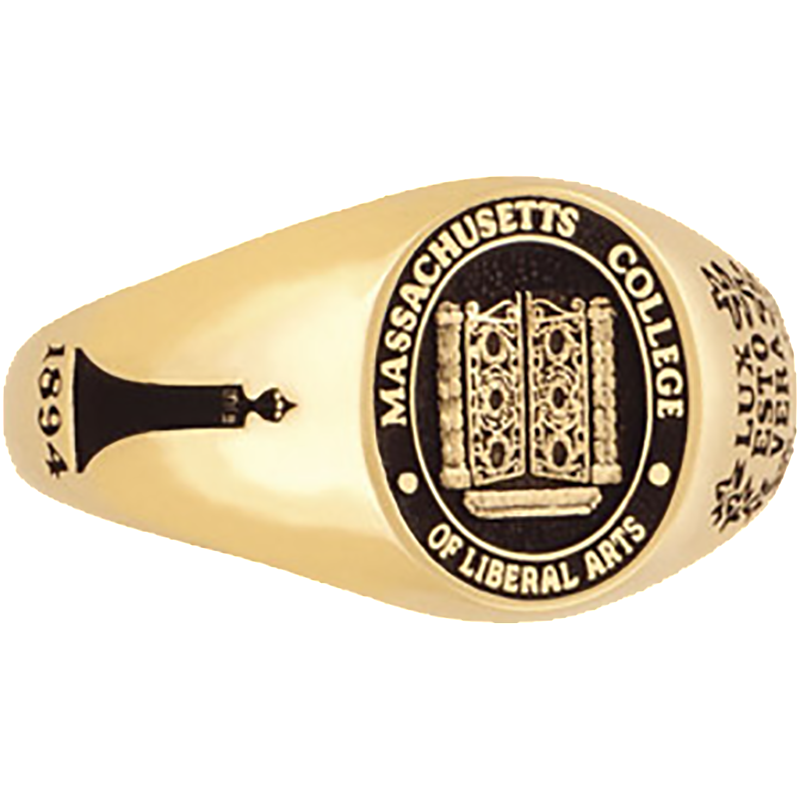 Massachusetts College of Liberal Arts Women's Petite Signet Ring