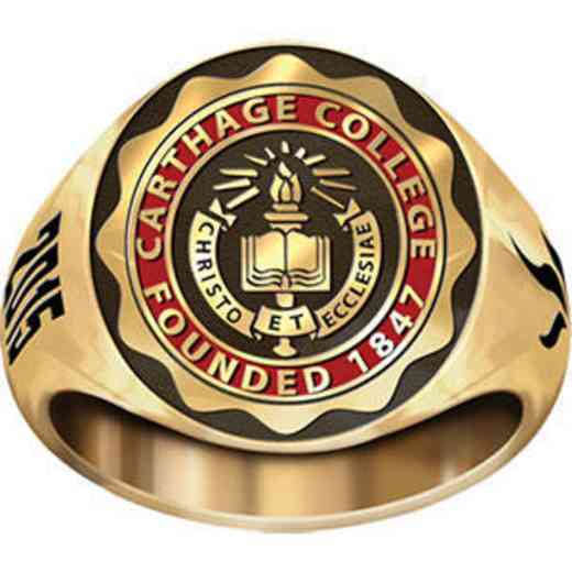 Carthage College Women's Small Signet Ring