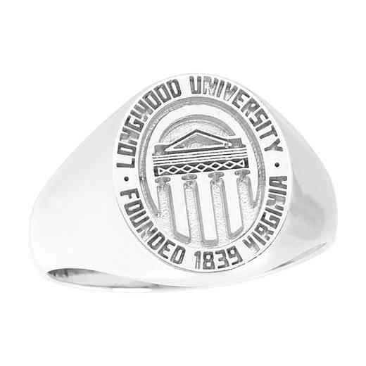 Longwood University Women's Small Round Signet Ring