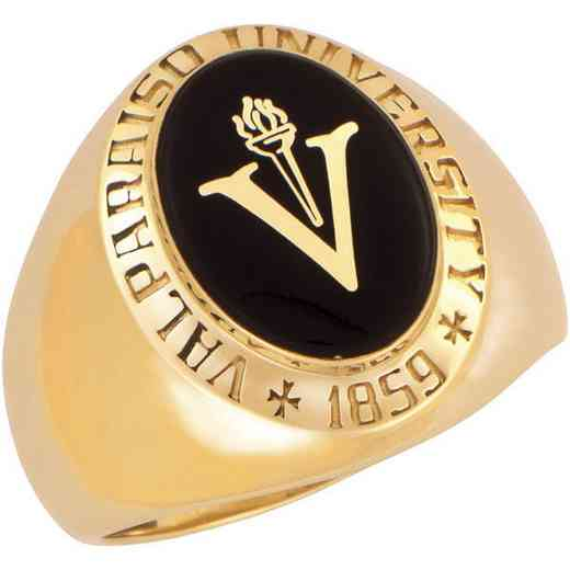 Valparaiso University-Alumni Men's Large Oval Signet with Stone Ring