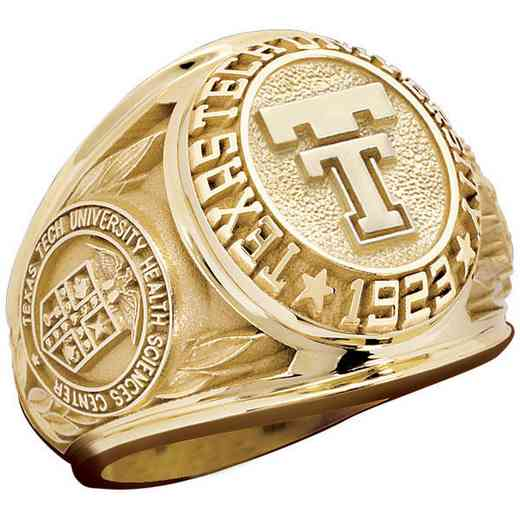 Texas Tech University Health Sciences Center Lubbock-TX Men's Large Traditional Ring