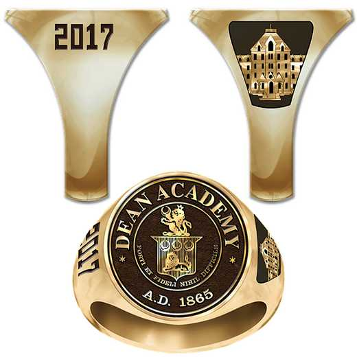 Dean Academy Men's Round Medallion Signet Ring