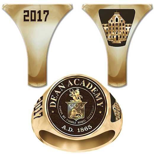 Dean Academy Men's Round Medallion Signet Ring