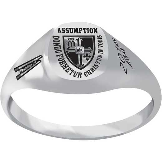 Assumption College Petite Signet Ring