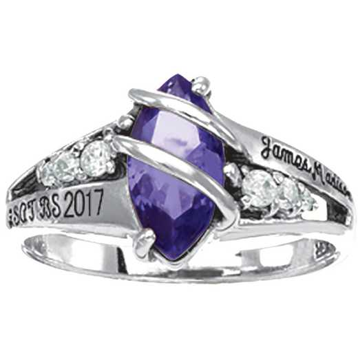 James Madison University Class of 2017 Women's Windswept Ring