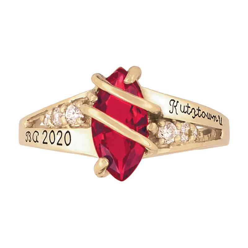 Kutztown University Women's Windswept Ring