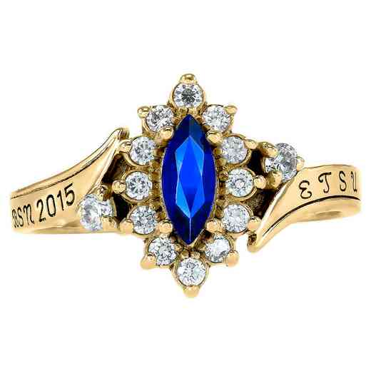 East Tennessee State University Women's Allure Ring