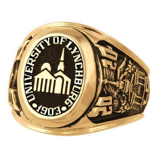 Lynchburg College Men's Large Metal Top Ring