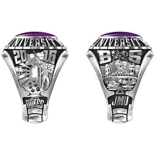 James Madison University Class Of 2016 Men's 876L Traditional with Square Stone