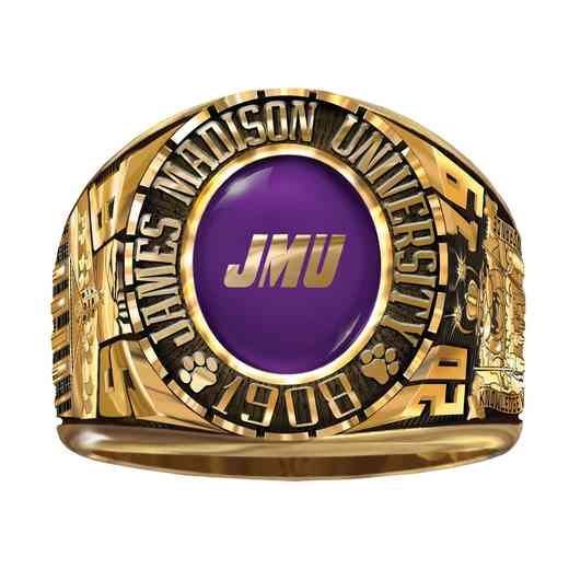 James Madison University Class Of 2019 Men's 876L Traditional with Square Stone