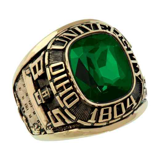 Ohio University Follett Bookstore Men's Square Traditional v2 Ring