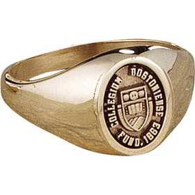 Boston College Women's Petite Oval Signet Ring