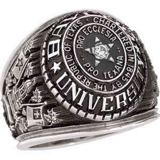 Baylor Men's Traditional Ring with Point Size Stone