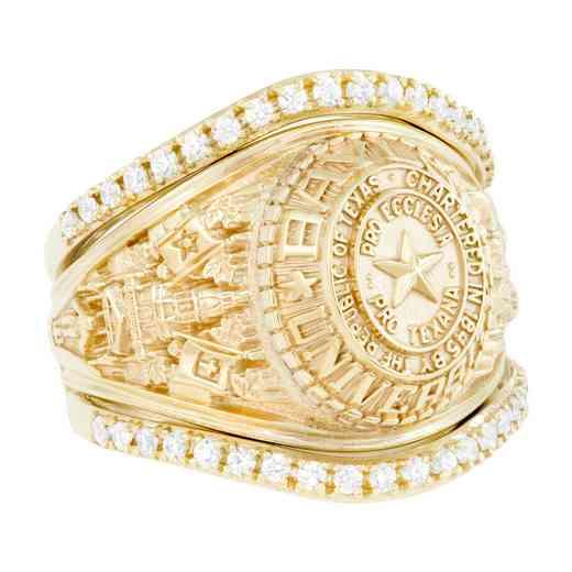 Baylor University Cubic Zirconia Band Ring