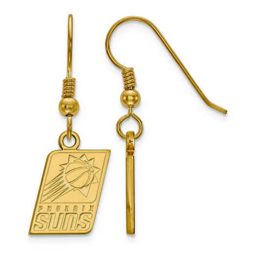 GP006SUN: 925 YGFP LogoArt Phoenix Suns Dangle Ears