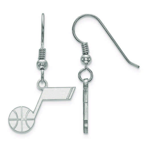 SS006JAZ: 925 LogoArt Utah Jazz Dangle Ears