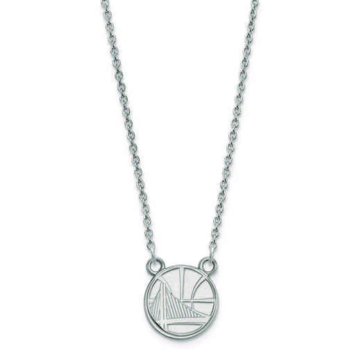 SS013WAR-18: 925 LogoArt Golden State Warriors Pendant Neck